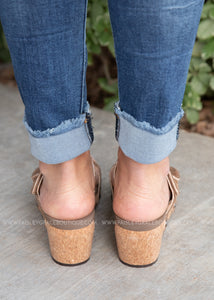 Shaw Wedge by Corkys-BROWN SNAKE
