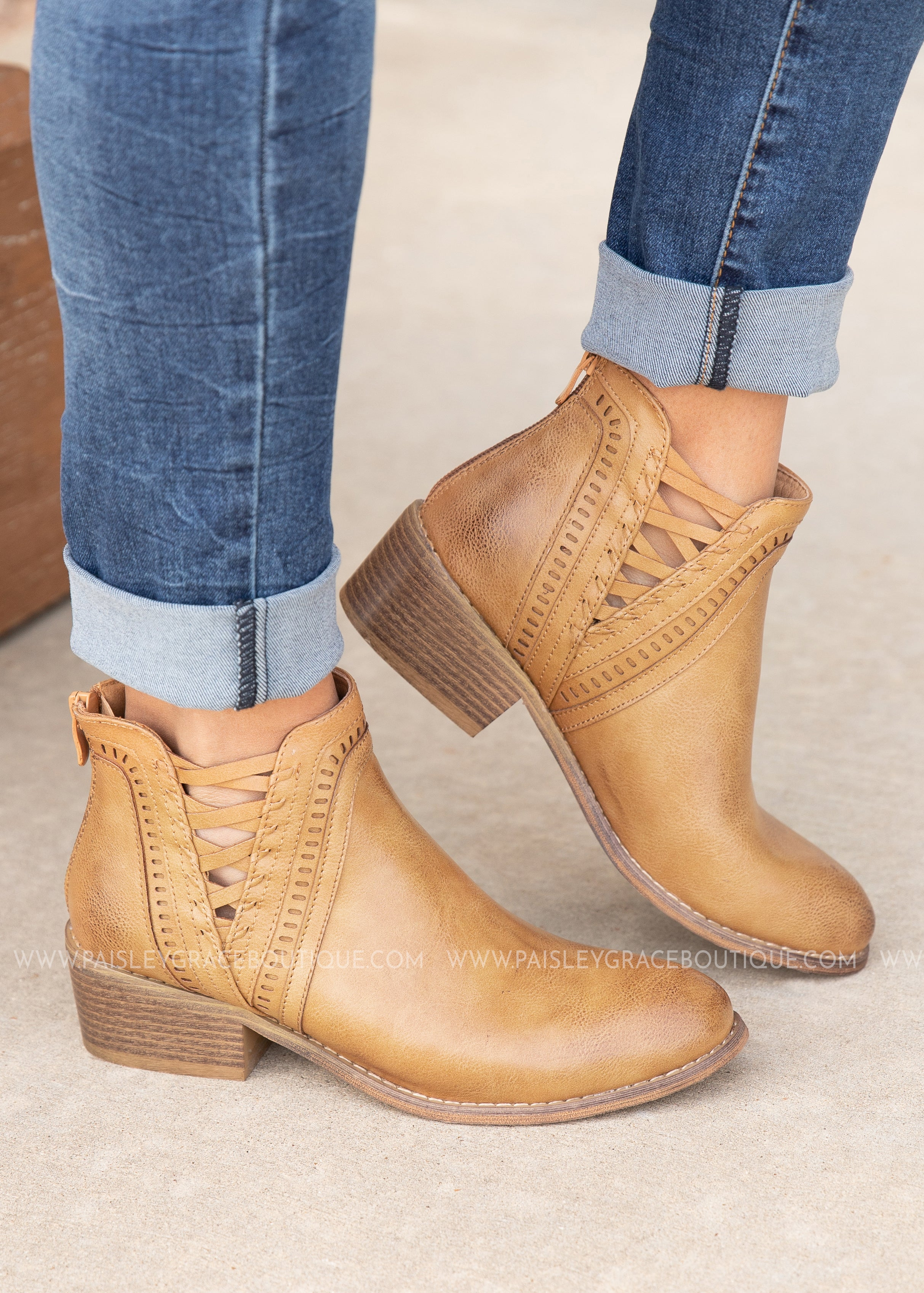 Detailed Bootie by Corkys-CAMEL