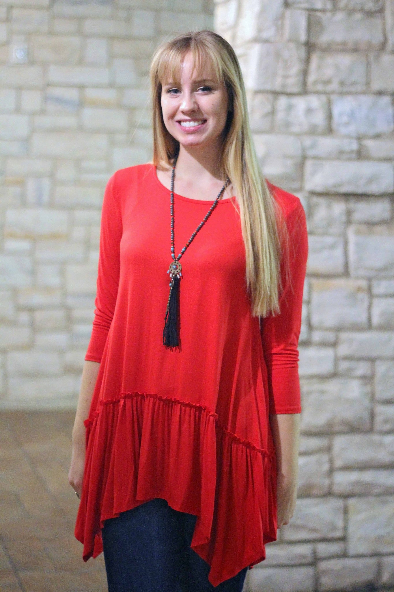 Penelope Tunic - Red - Final Sale