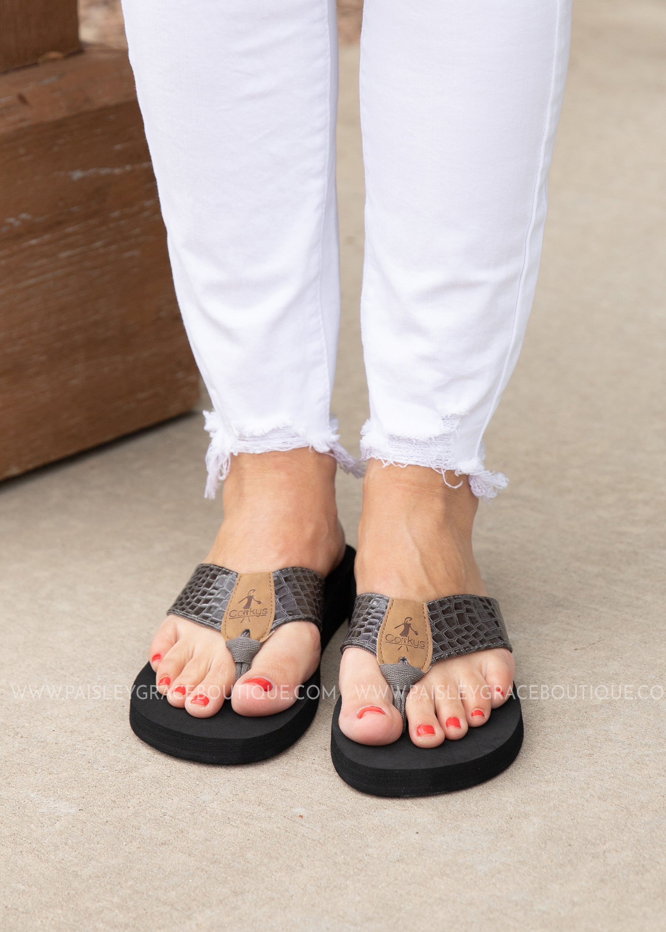 Lumi Flip Flop by Corkys - GREY