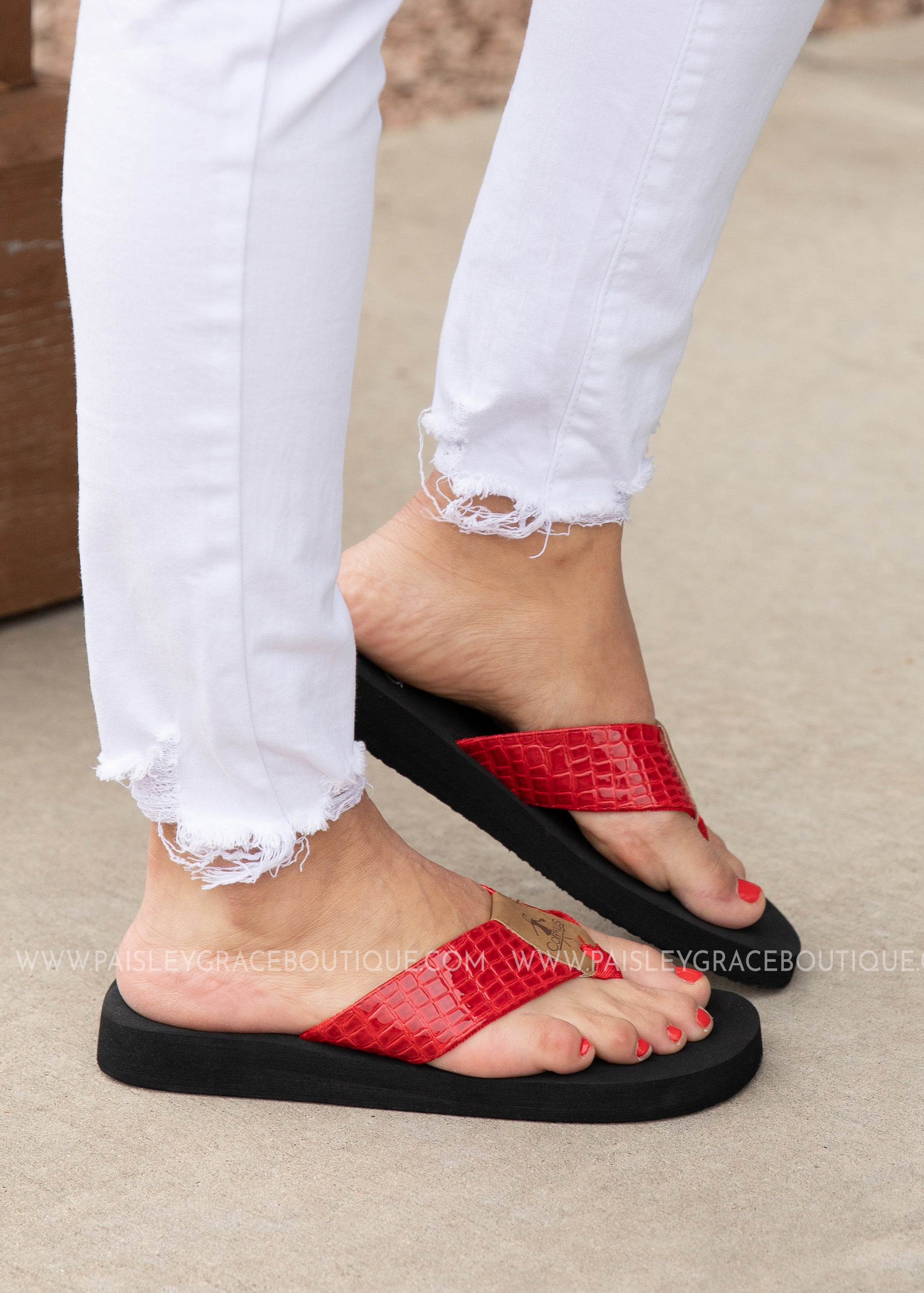 Lumi Flip Flop by Corkys - RED