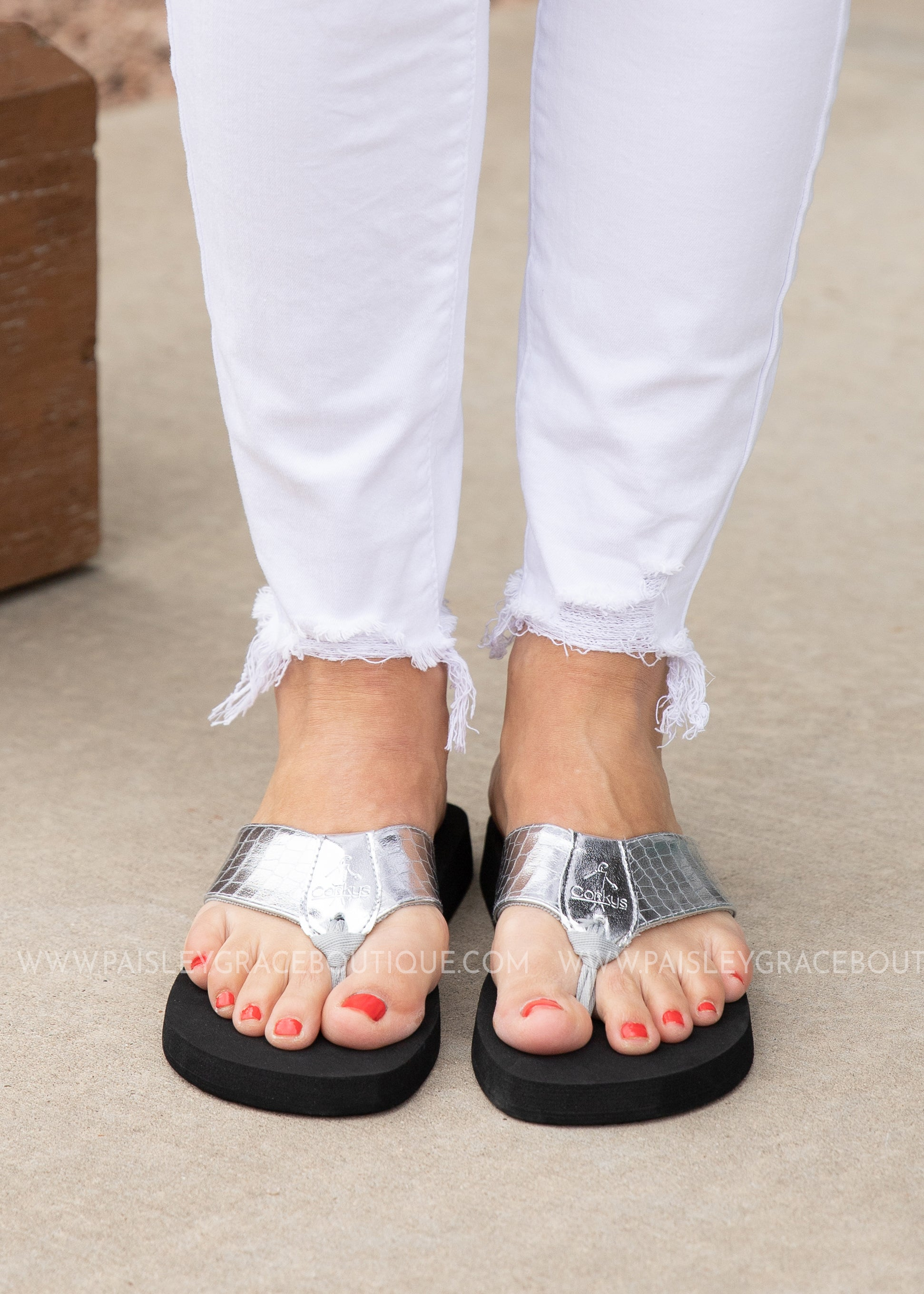 Lumi Flip Flop by Corkys - SILVER