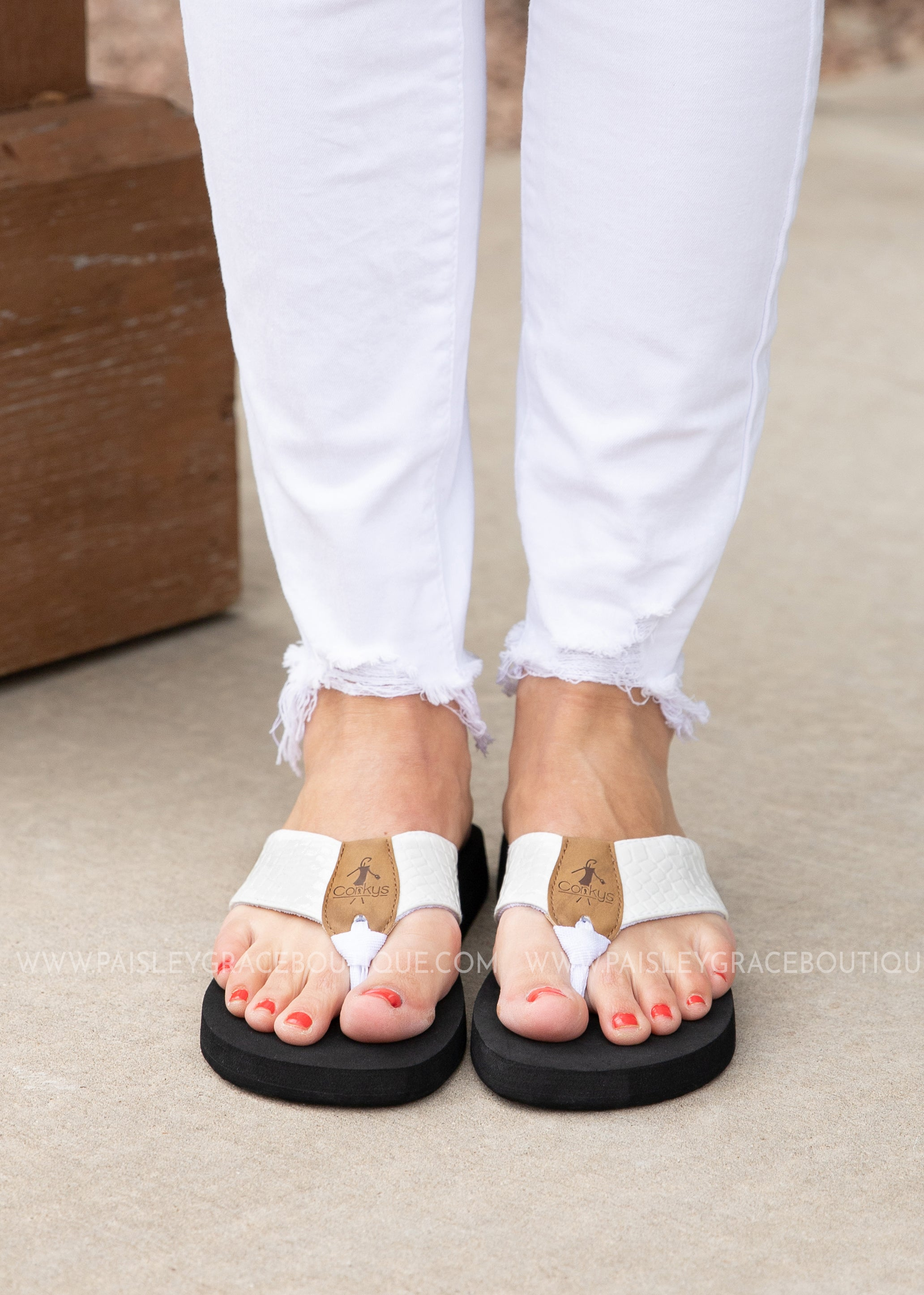Lumi Flip Flop by Corkys - WHITE