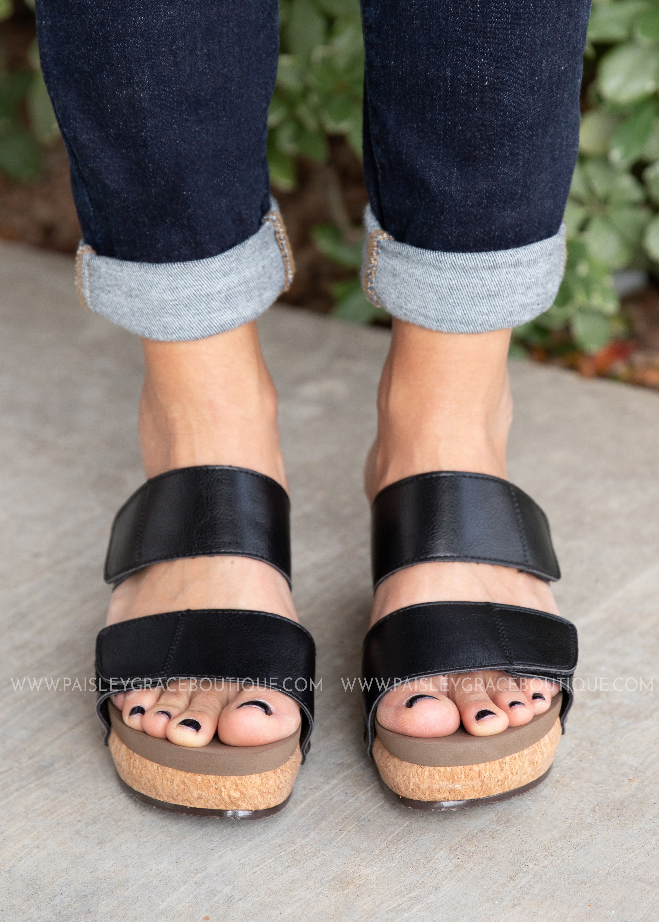 Shaw Wedge by Corkys-BLACK-RESTOCK