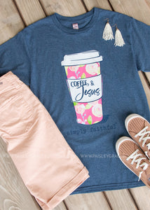 Coffee & Jesus Tee by Simply Southern