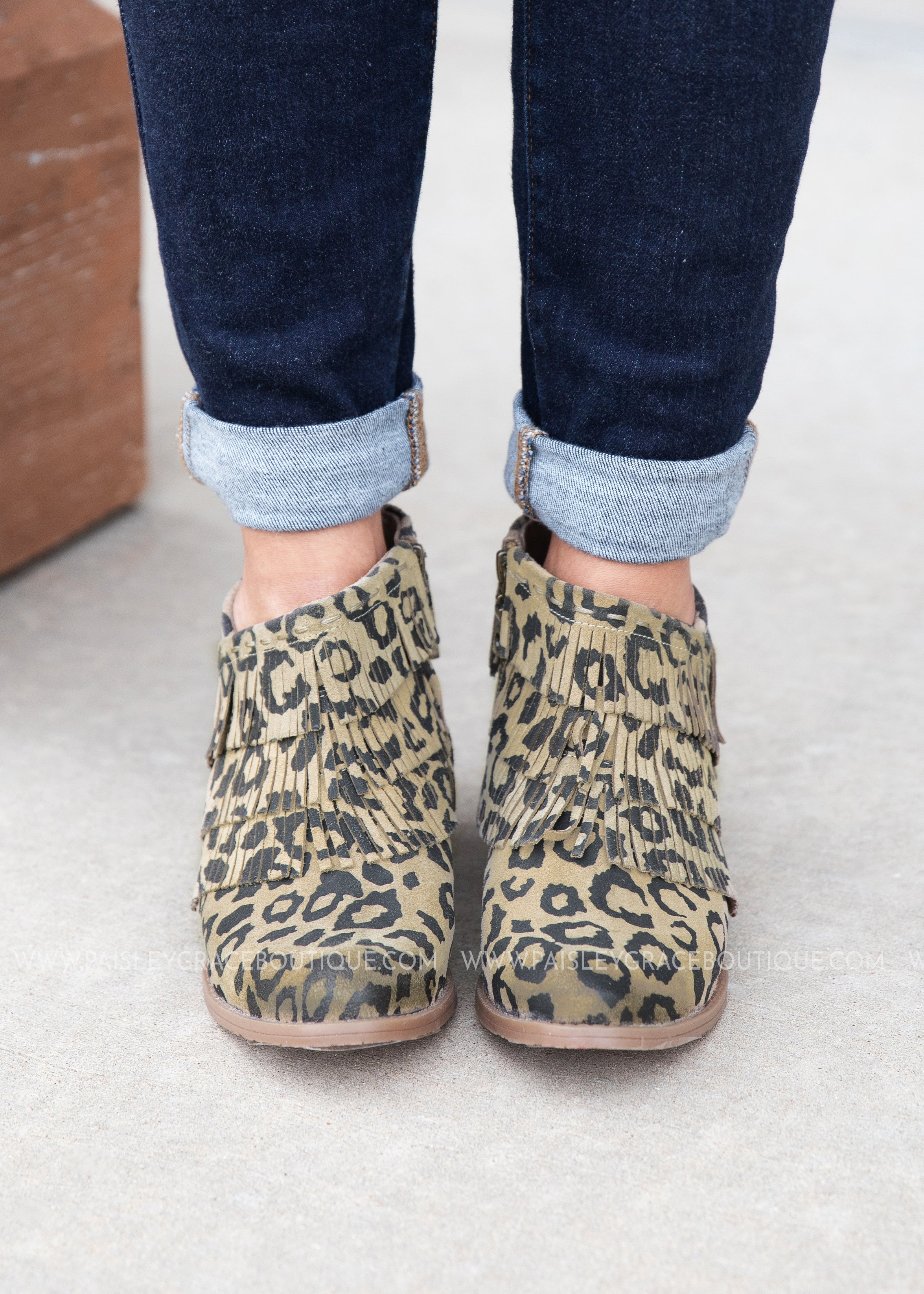 Kepang Bootie-LEOPARD - FINAL SALE