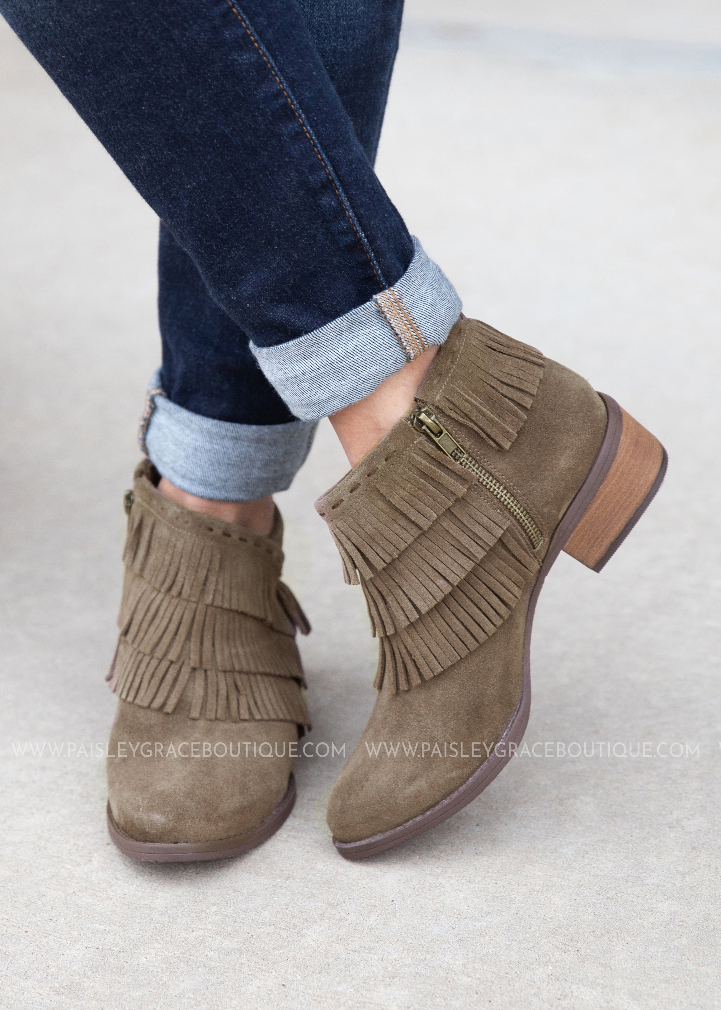 Kepang Bootie-TAUPE - FINAL SALE