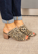 Load image into Gallery viewer, Kimber Peep Toe Mule-LEOPARD