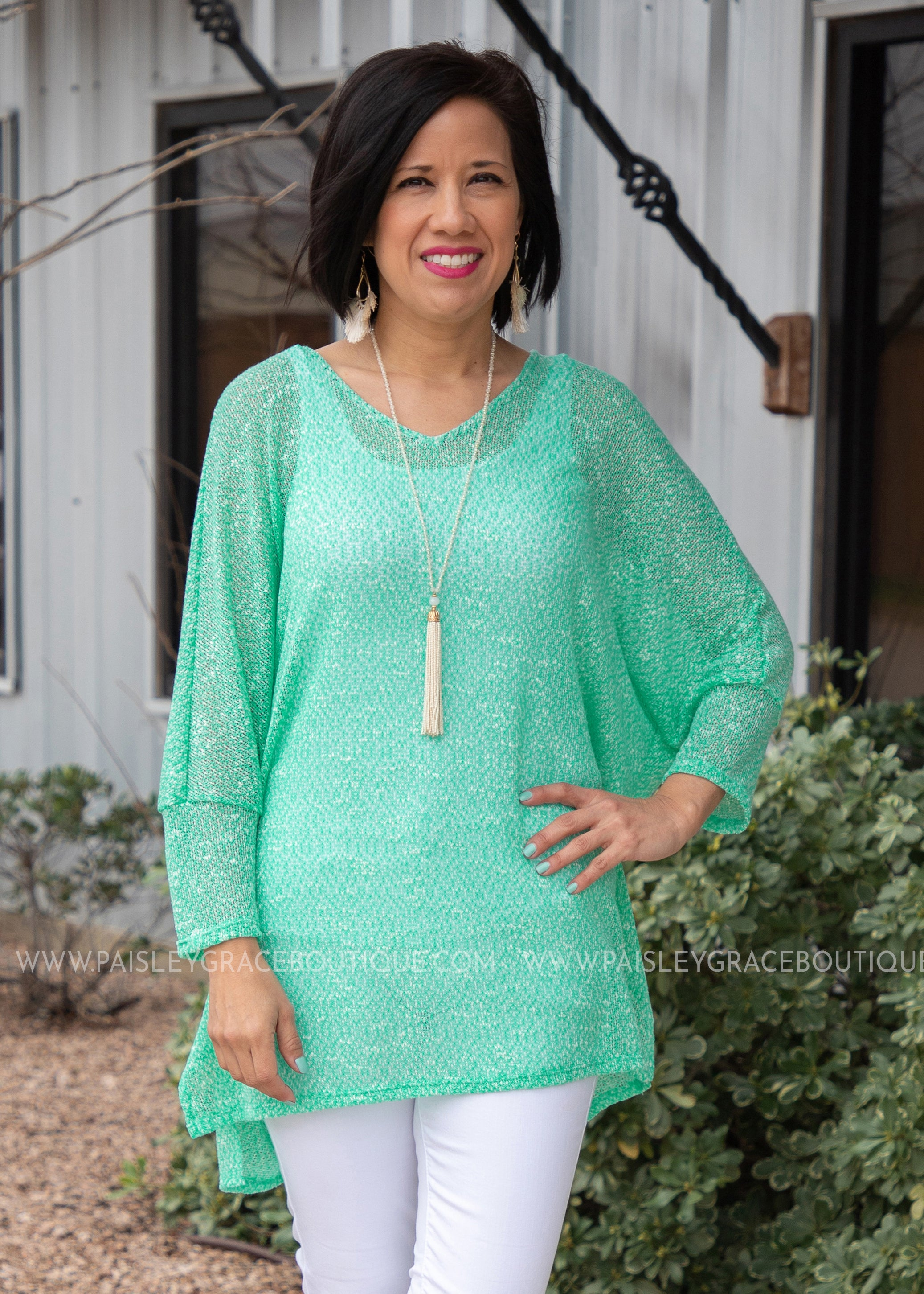 Mesh With Me Top- MINT - FINAL SALE
