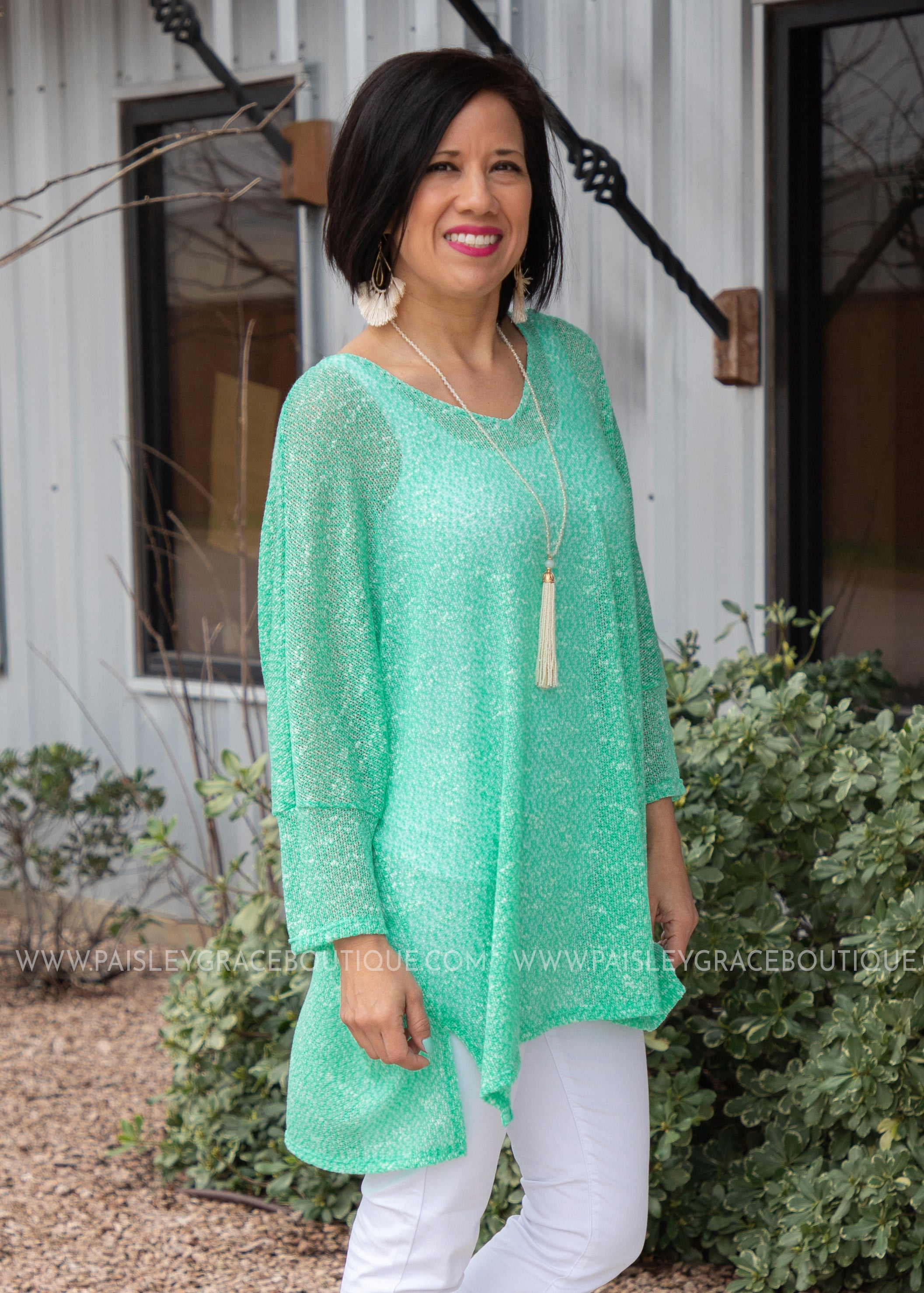 Mesh With Me Top- MINT