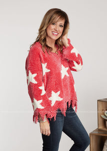 Written In The Stars Sweater- CORAL - FINAL SALE