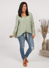Load image into Gallery viewer, Forget Me Knot Top-SAGE  - FINAL SALE