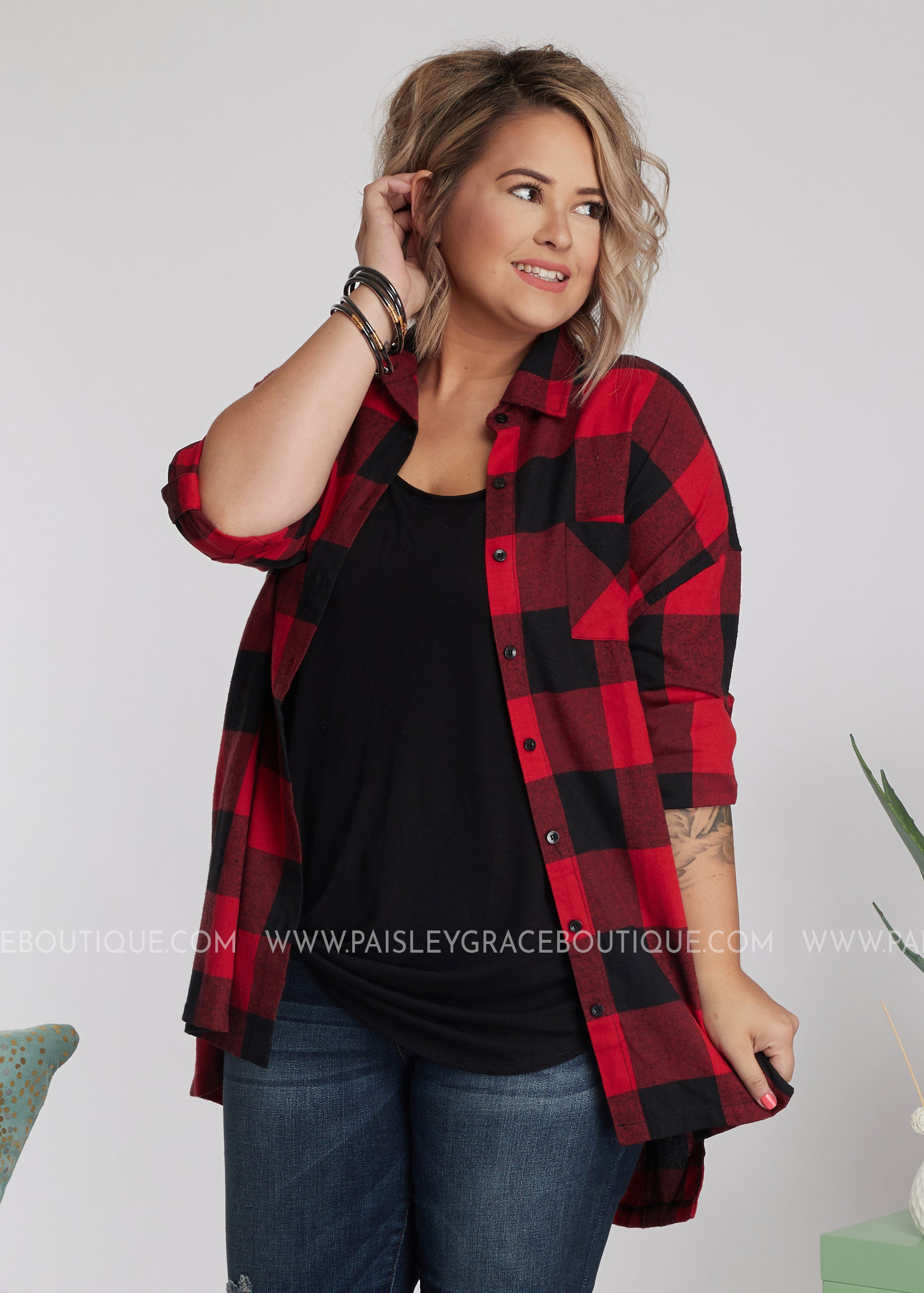 Willow Flannel Top - FINAL SALE