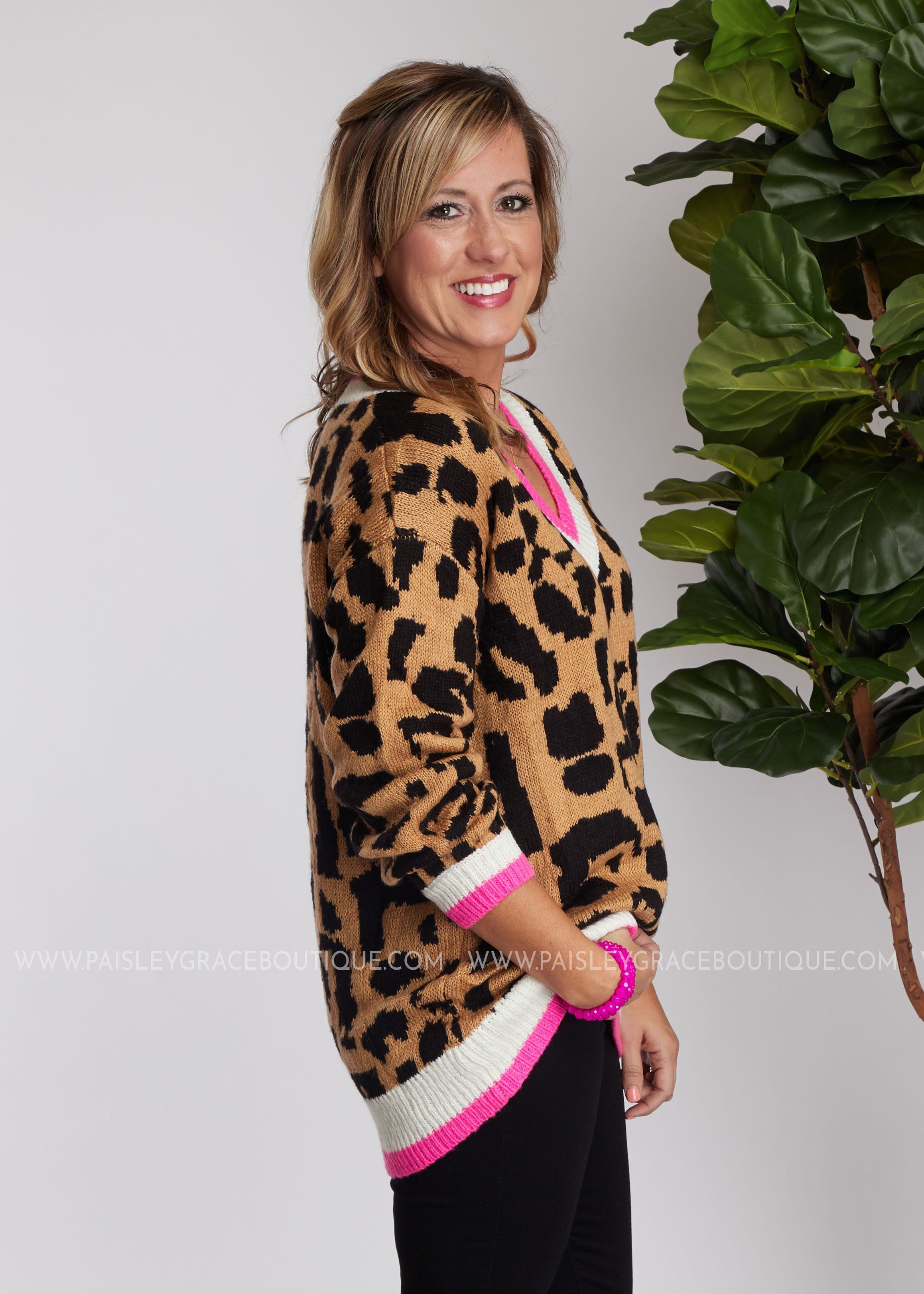Stacey Leopard Sweater