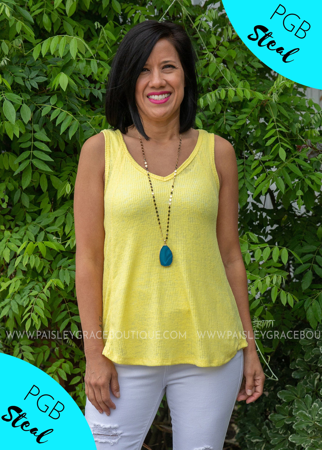 Starburst Tank- YELLOW - FINAL SALE