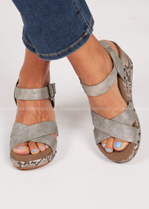 Flax Wedge by Corkys- Snake  - FINAL SALE
