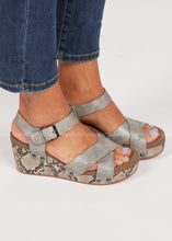 Load image into Gallery viewer, Flax Wedge by Corkys- Snake  - FINAL SALE