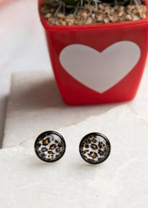 Lovely Leopard Stud Earrings