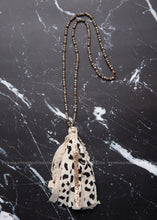 Load image into Gallery viewer, Spectacularly Spotted Tassel Necklace