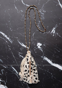 Spectacularly Spotted Tassel Necklace