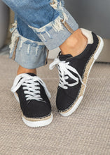 Load image into Gallery viewer, Lucia Espadrille Sneaker-BLACK  - FINAL SALE