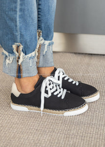 Lucia Espadrille Sneaker-BLACK  - FINAL SALE