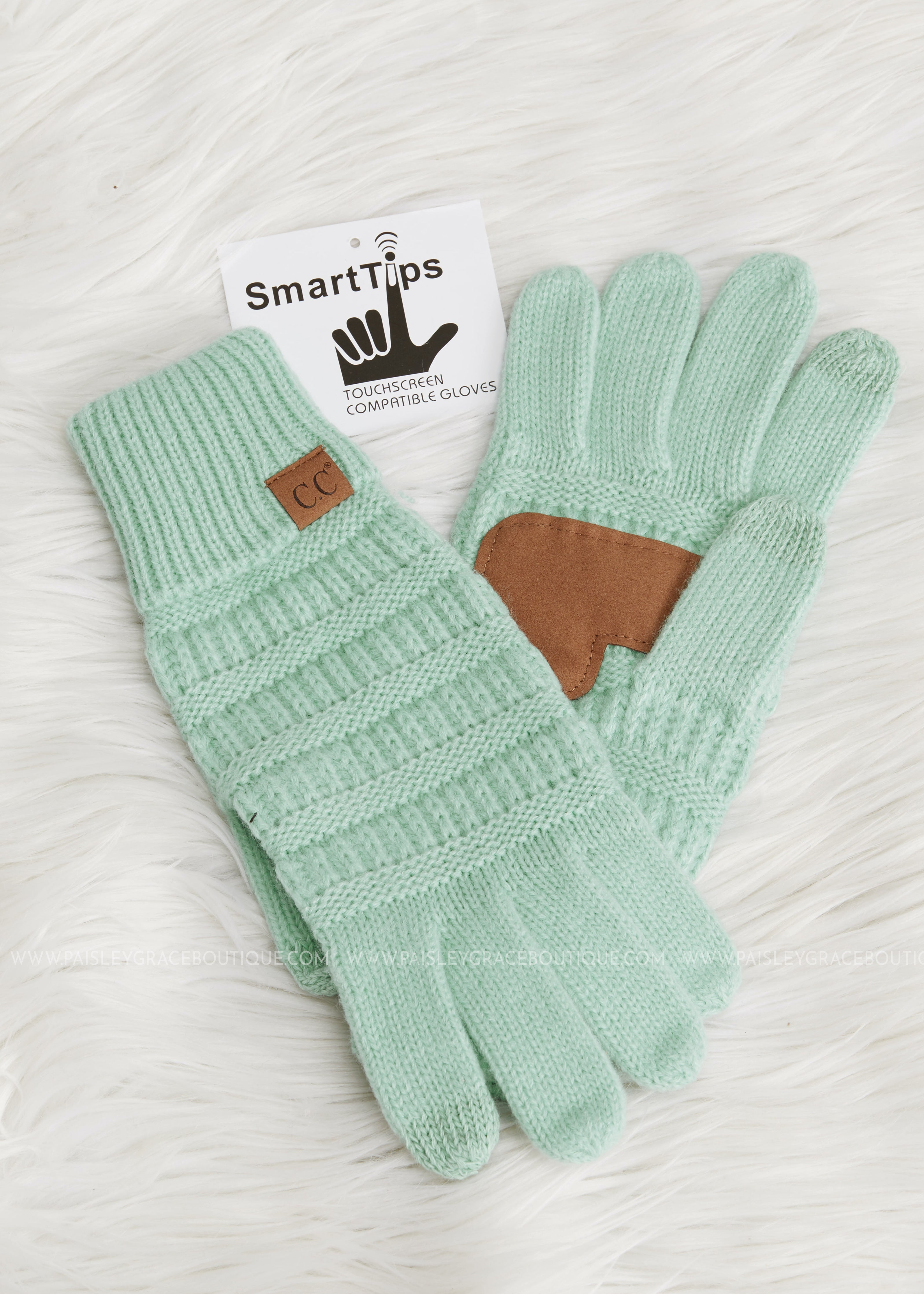 Cozy Touch Screen Gloves by C.C-MINT - SALES FINAL