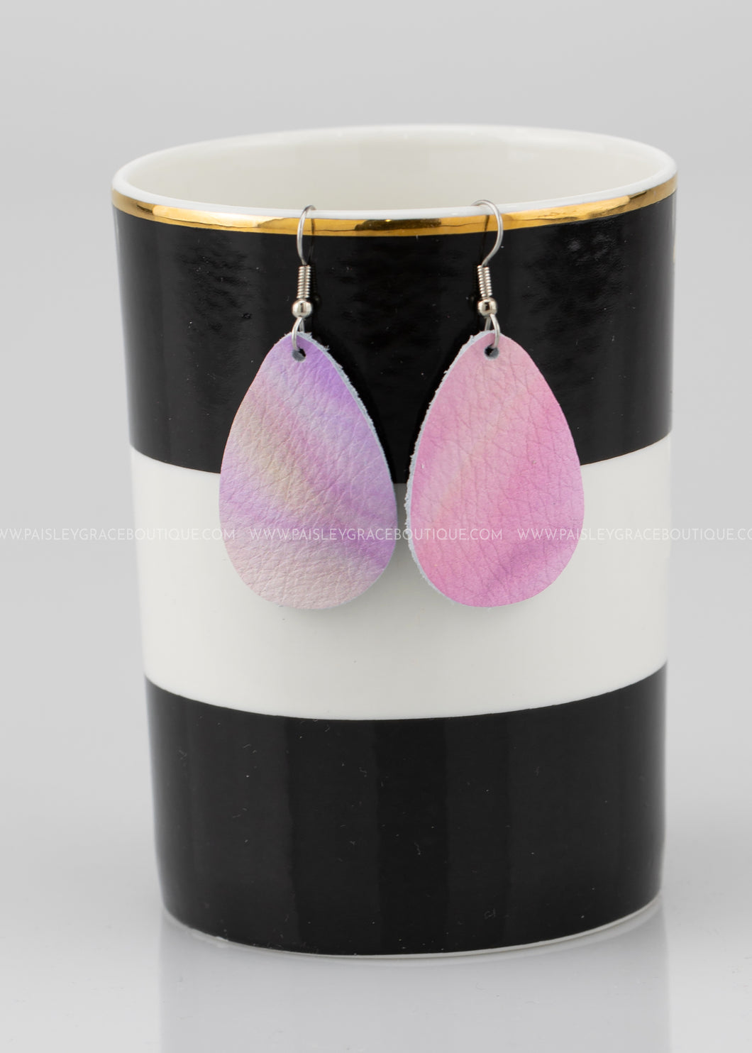 Watercolor Mini Teardrop Earrings