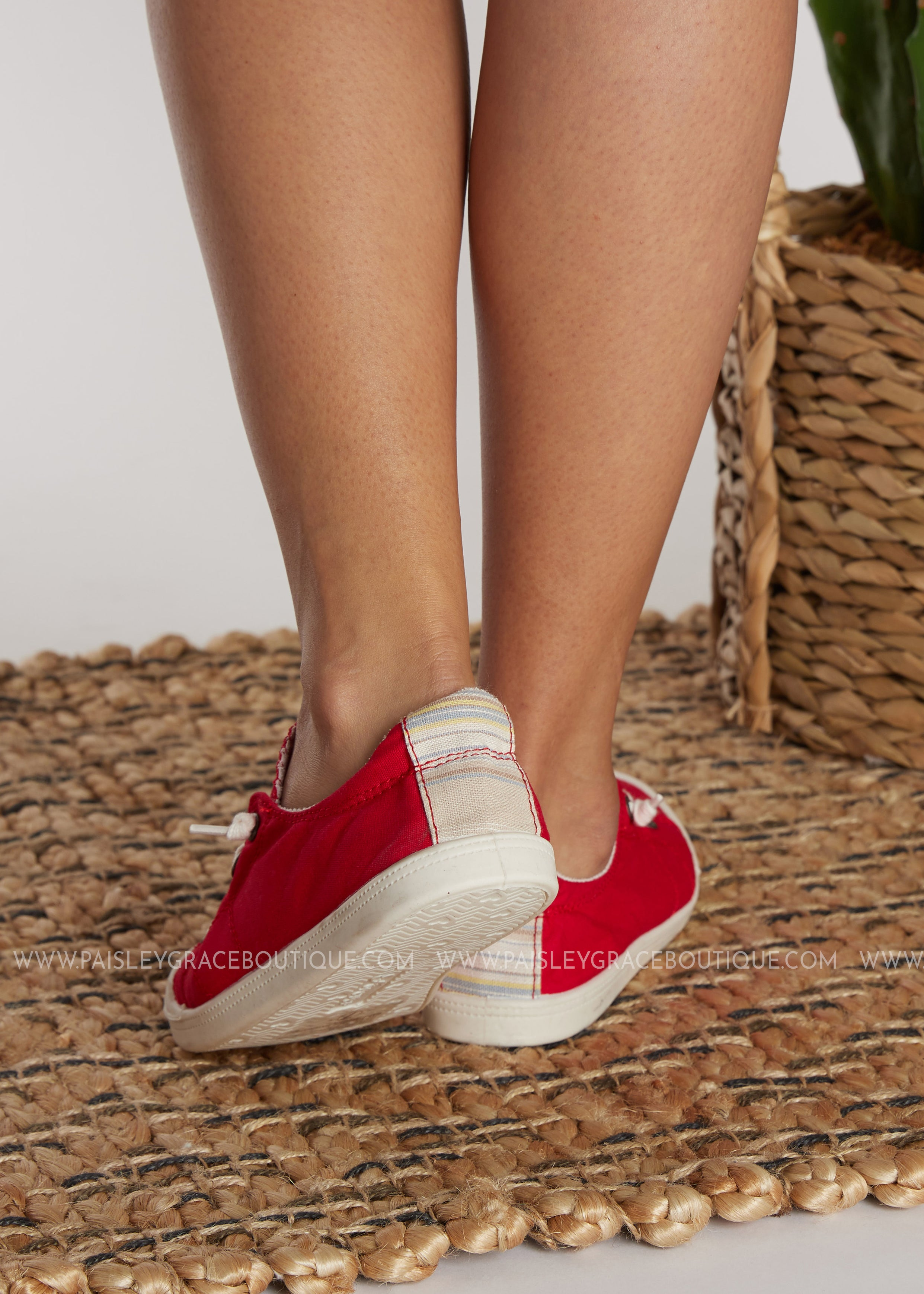 Comfy Red Sneakers - FINAL SALE