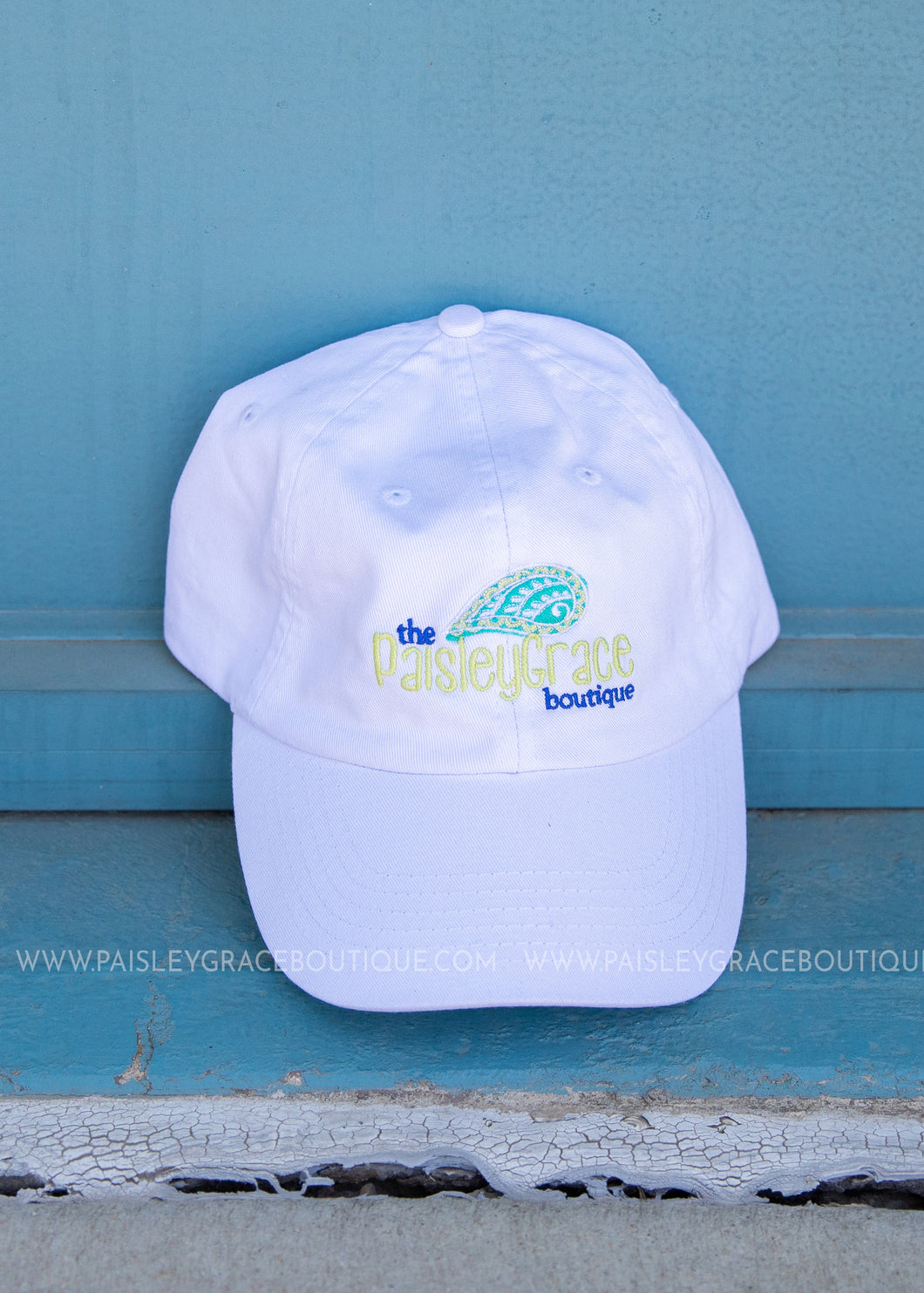 PGB Ball Cap-White/NON-DISTRESSED  - FINAL SALE