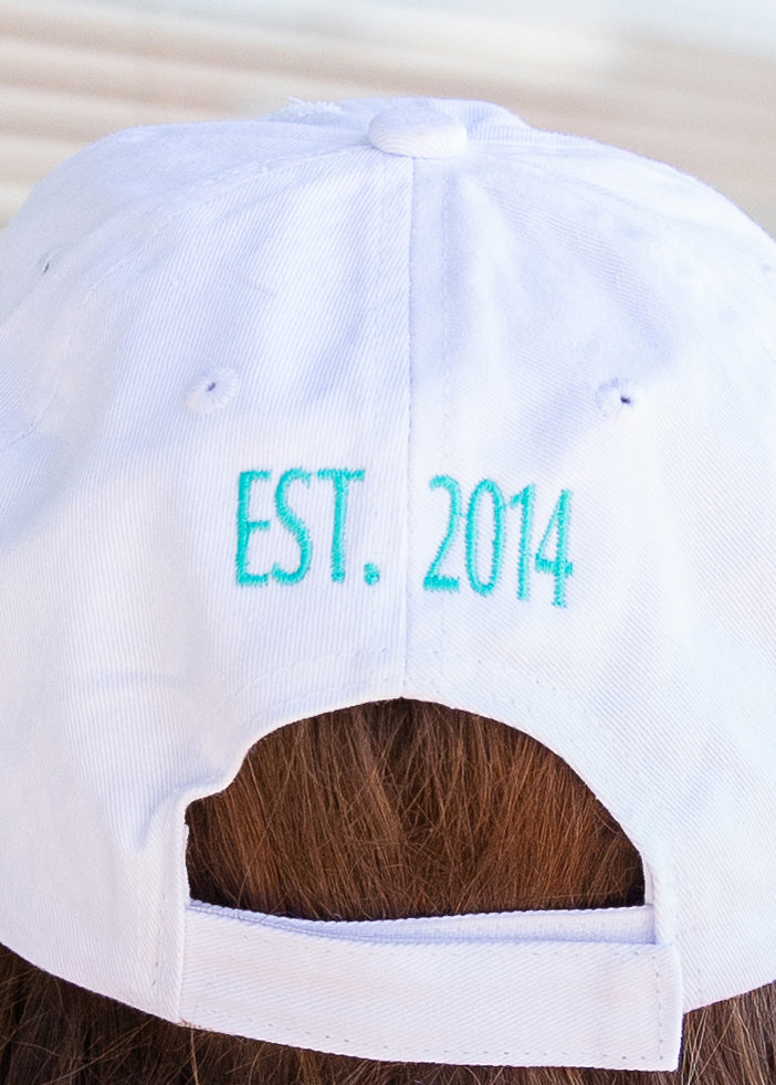 PGB Ball Cap-WHITE DISTRESSED