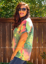 Load image into Gallery viewer, Basic Needs Tie Dye Tee- GREEN
