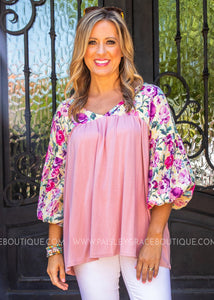 Step In Time Top- MAUVE  - FINAL SALE