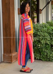 Sun Kissed Striped Duster - FINAL SALE