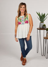 Load image into Gallery viewer, Desert Flower Embroidered Top