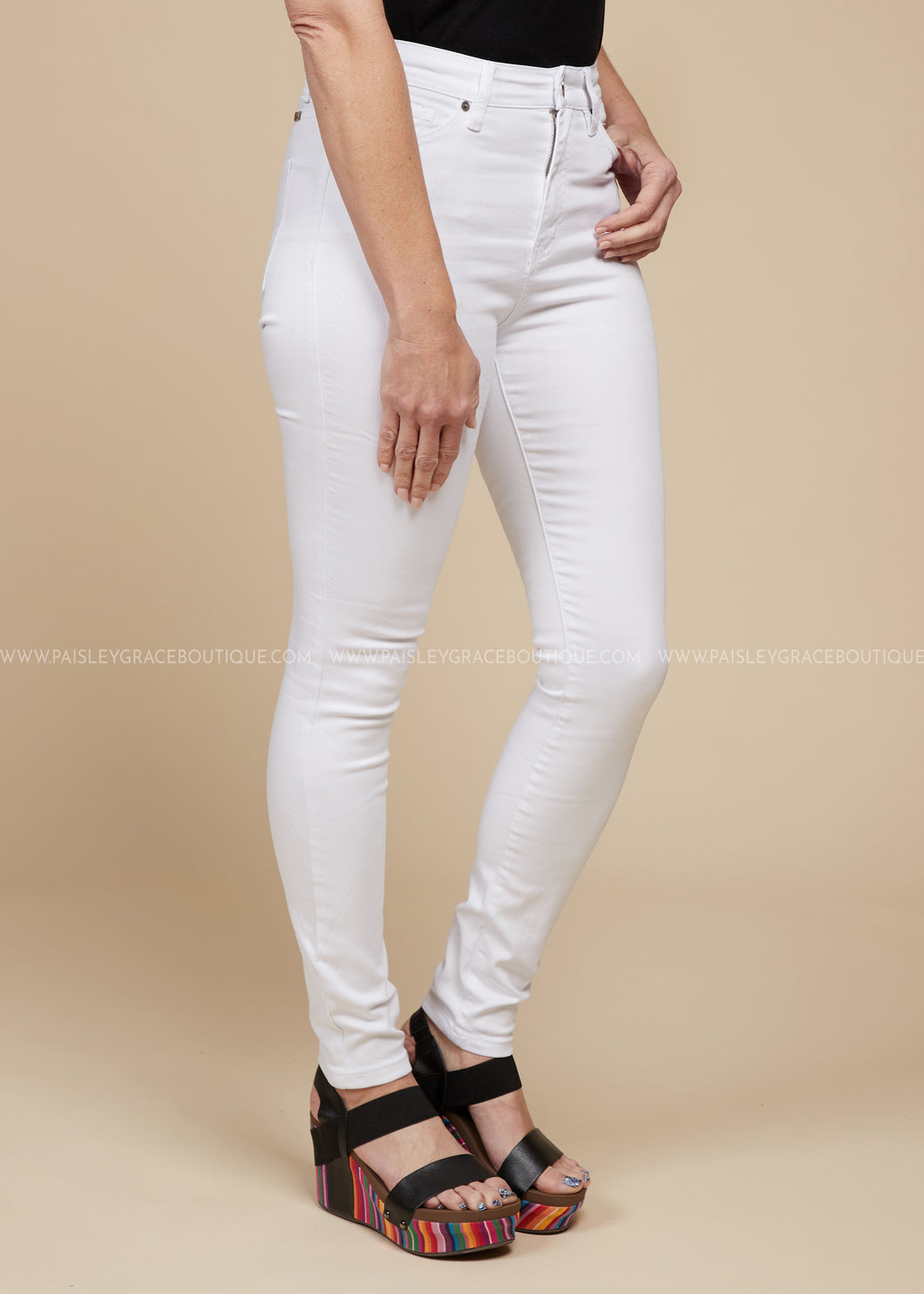 Grace White Jeans  - FINAL SALE
