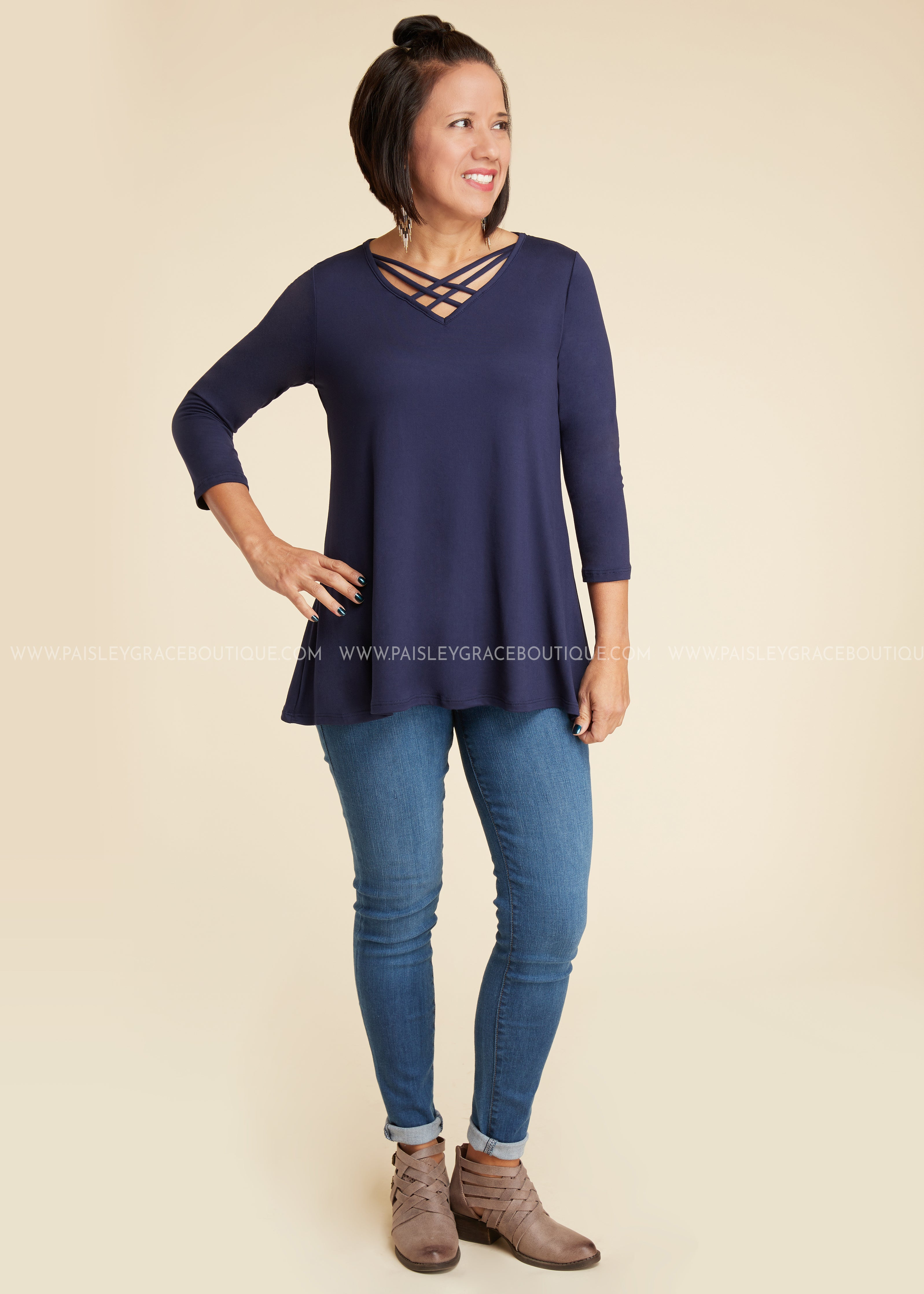 Kinley Top- NAVY- RESTOCK