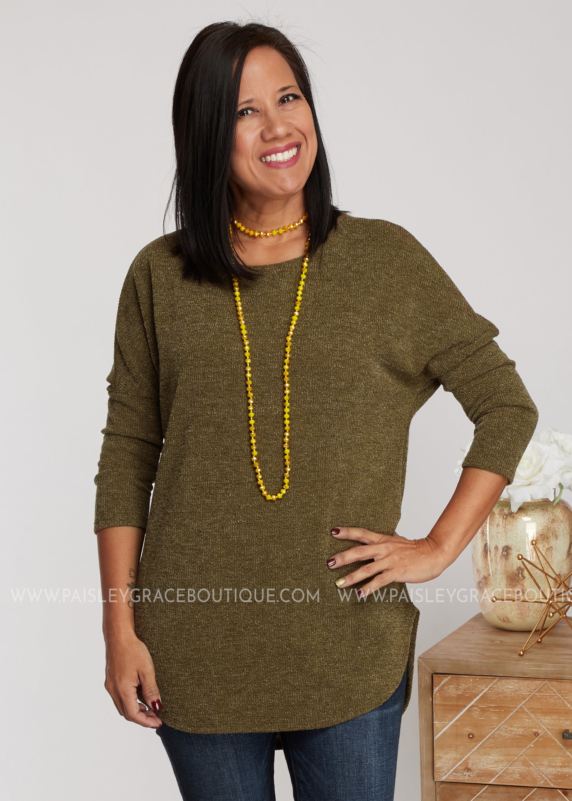 Sweater Weather - Olive - FINAL SALE