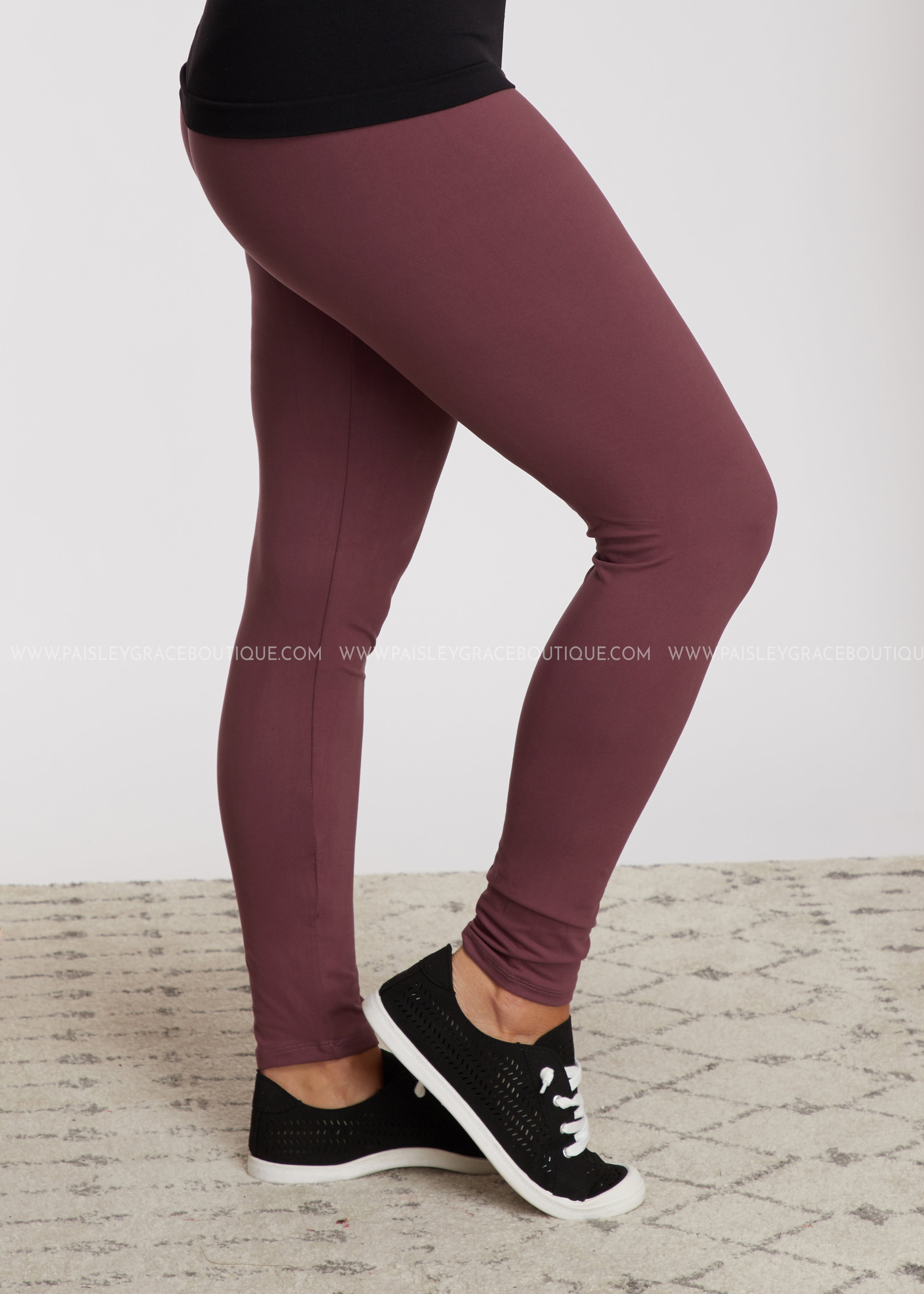 Solid Full Length Leggings - WILD GINGER