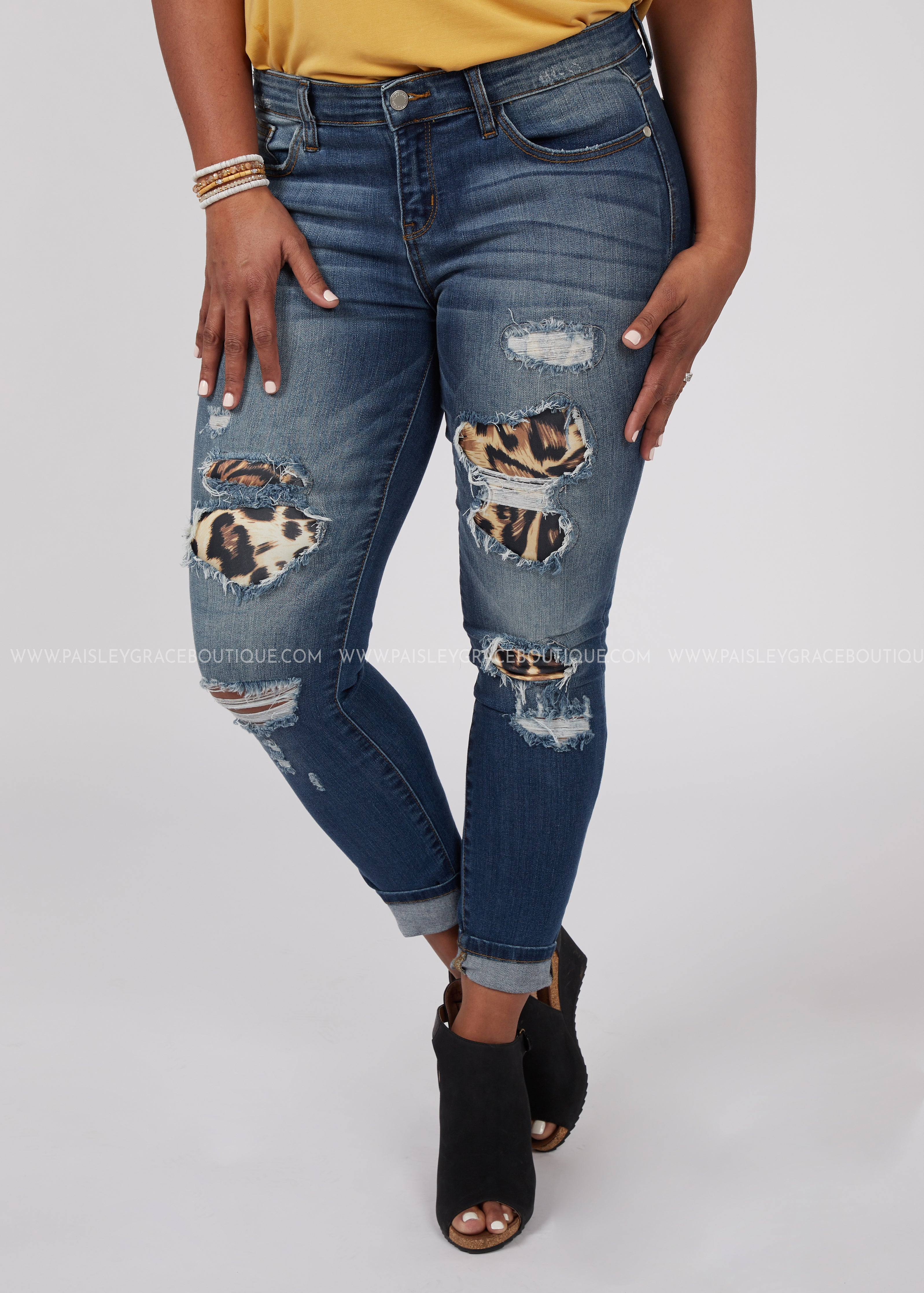 Wild & Chic Distressed Jeans-RESTOCK