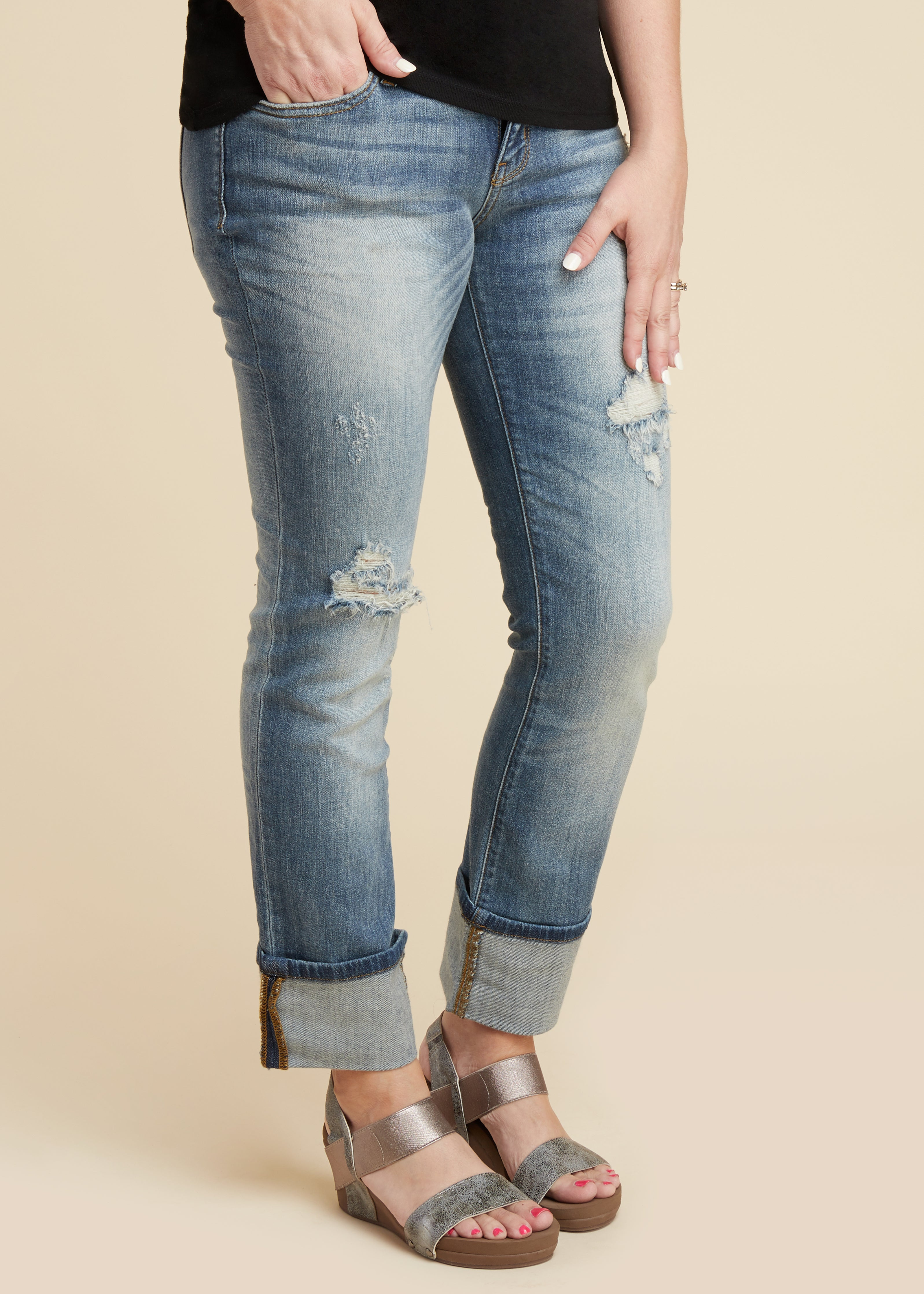Libbie Distressed Jean-RESTOCK