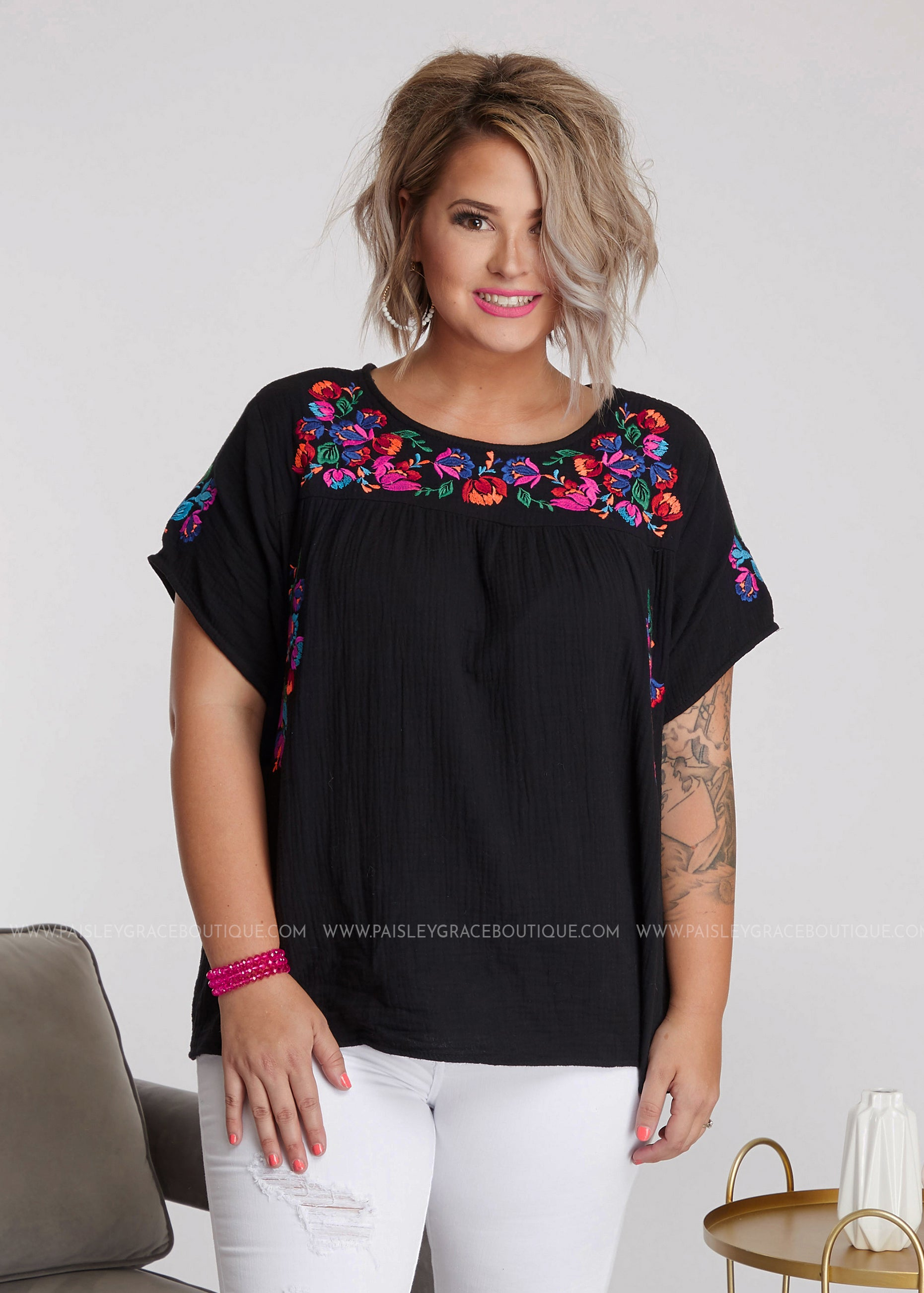 Lolita Embroidered Top - FINAL SALE