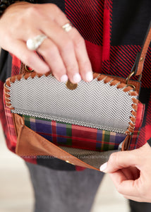 Evelyn Brown & Plaid Crossbody/Wallet
