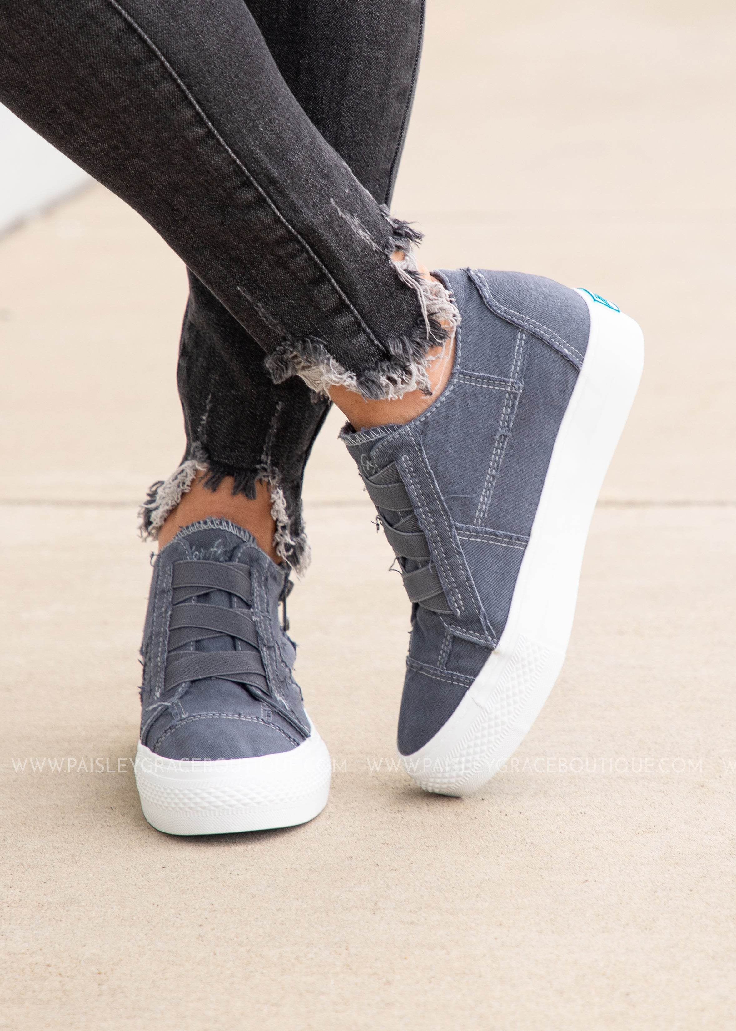 Mamba Wedge Sneaker- DENIM