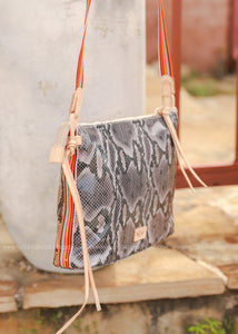 Downtown Crossbody- Margot Snake By Consuela