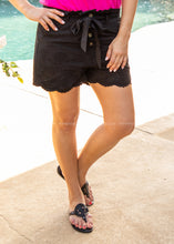Load image into Gallery viewer, Girl Next Door Shorts- BLACK  - FINAL SALE