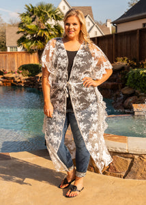 Clear Your Path Lace Duster  - FINAL SALE