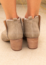 Load image into Gallery viewer, Laurel Peep Toe Bootie-TAUPE