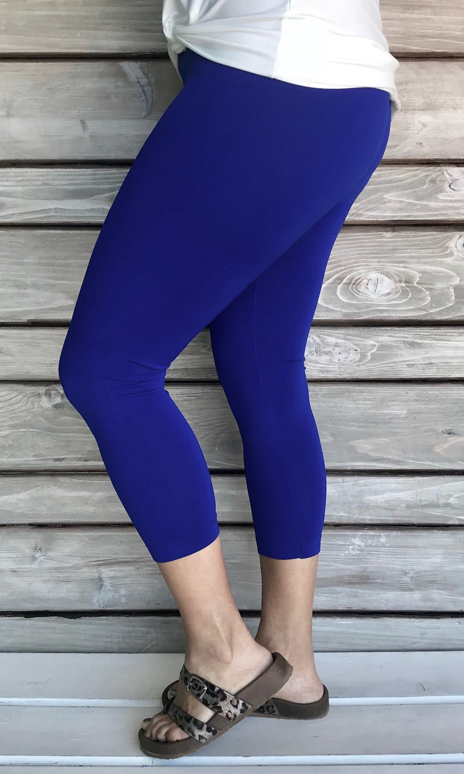 Nylon Capri Legging REGULAR-ROYAL BLUE