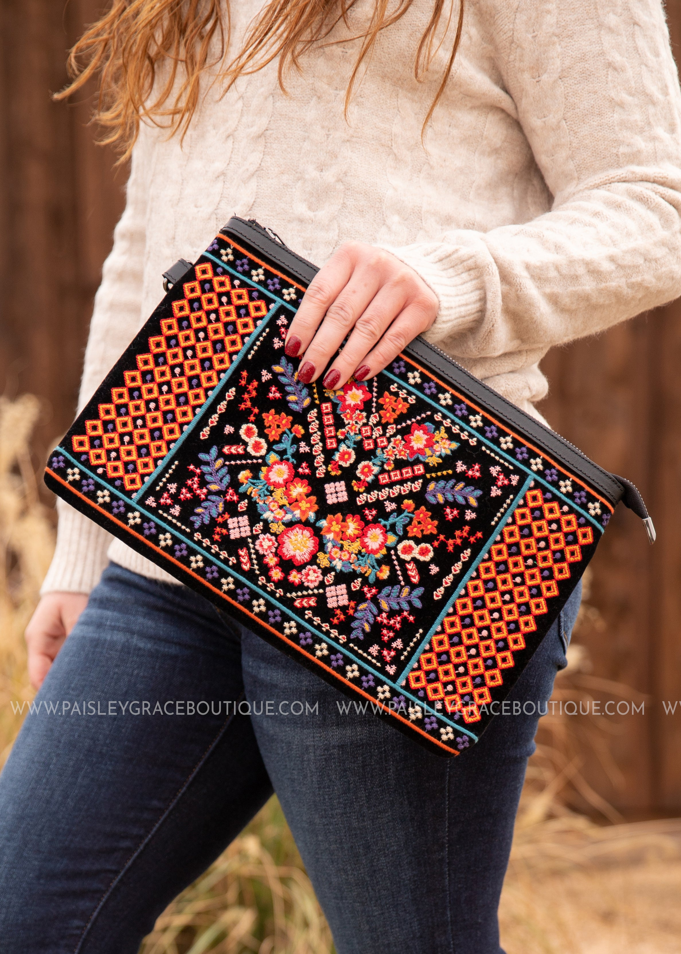 Sundance Embroidered Clutch
